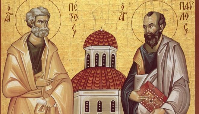 A început postul Sfinţilor Petru şi Pavel. Avem dezlegare la peşte  în fiecare sâmbătă şi duminică - sfpetrusipavel-1497281423.jpg