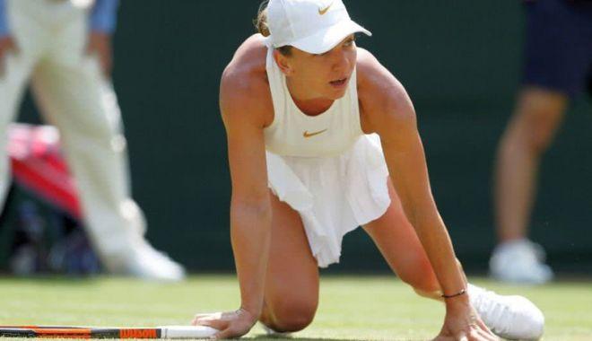 "Foto: Simona Halep, out de la Wimbledon. ""Am abordat neprofesionist meciul!"""