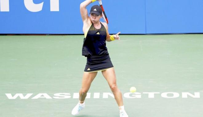 Foto: Simona Halep s-a calificat în sferturi, la Washington