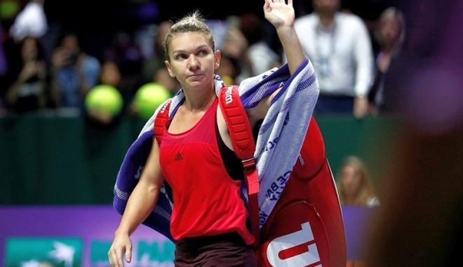 Foto: Simona Halep, eliminată de la Turneul Campioanelor. Poate pierde fotoliul de lider WTA