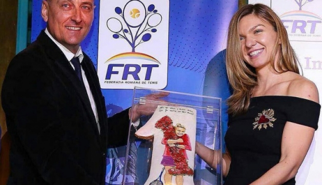 Foto: Simona Halep şi Horia Tecău, laureaţi la Gala Tenisului Românesc 2017