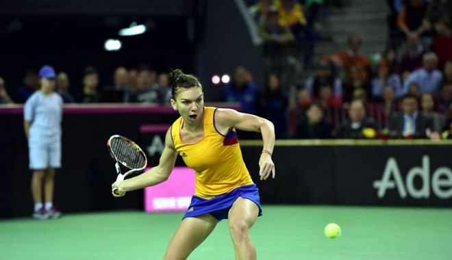 Foto: Simona Halep va face parte din echipa de Fed Cup a României