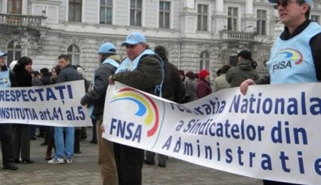 Foto: Sindicatele din administraţia publică se pregătesc de grevă generală