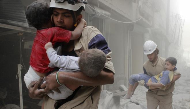 """Foto: Ministrul turc al Sănătăţii: """"Testele confirmă că în atacul chimic din Siria a fost folosit gaz sarin"""""""