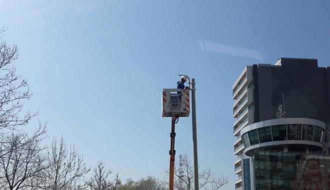 """Foto: Primăria Constanţa: """"Se lucrează  la sistemul public de iluminat"""""""