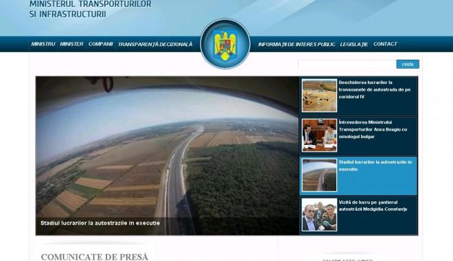 Foto: Ministerul Transporturilor are un nou site