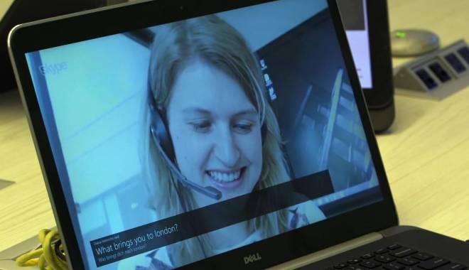 Foto: Microsoft începe să testeze pe Skype un program de traducere automată