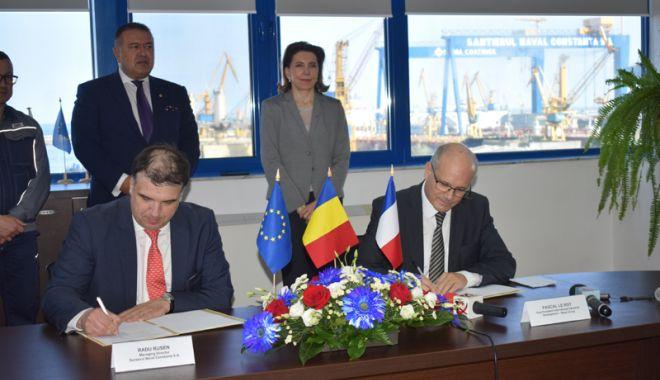 """Foto: Șantierul Naval Constanța și Naval Group Franța intră în """"bătălia"""" pentru corveta multifuncțională"""