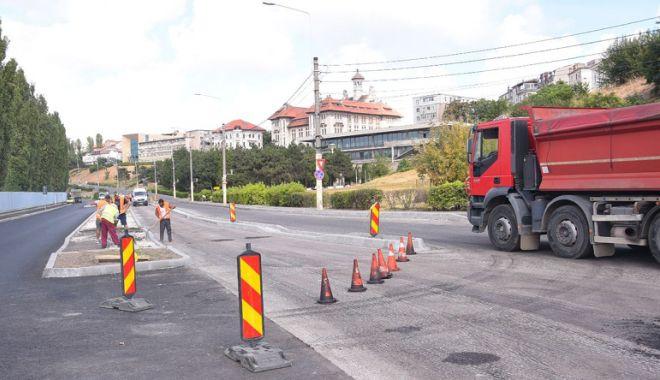 Foto: Şoferi, atenţie! Trafic restricţionat pe strada Termele Romane