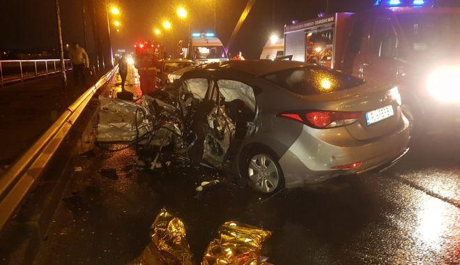 Foto: Şoferul vinovat de accidentul de la Ovidiu, reţinut pentru 24 de ore