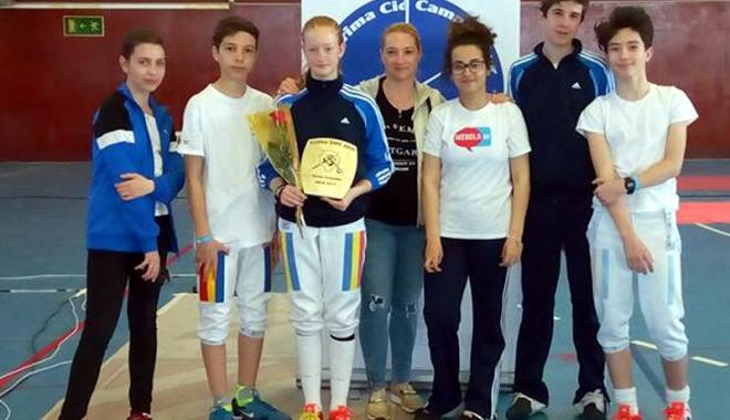 Foto: Spadasină de la CS Farul, medaliată cu aur la Circuitul European