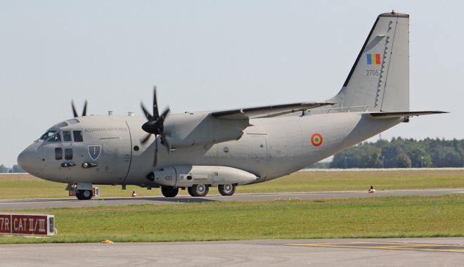 Foto: European Spartan 2019. Exerciţiu complex efectuat la Baza Boboc cu aeronava C-27J Spartan