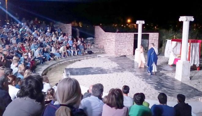 Foto: Teatru în aer liber. Viaţa lui Ovidius, pusă în scenă în parcul Tăbăcărie