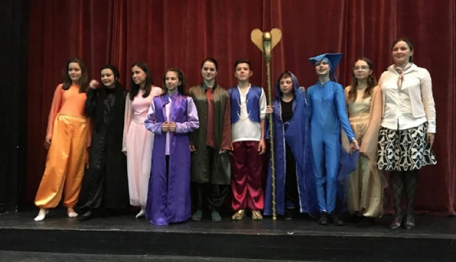 Foto: Spectacol realizat de elevii Şcolii 29