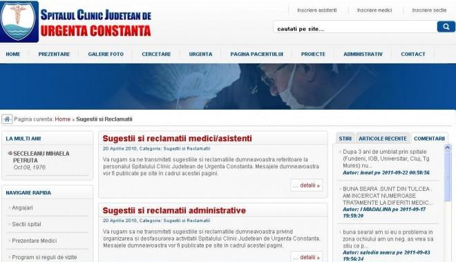 Reclamaţiile postate pe pagina web a Spitalului Judeţean nu sunt băgate în seamă - spital-1317844687.jpg