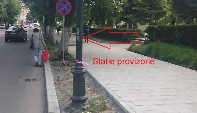 Foto: Atenţie, constănţeni! A fost mutată o staţie de autobuze