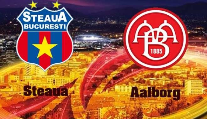 Foto: Steaua a fost învinsă de Aalborg cu 1-0, în grupa J a Ligii Europa