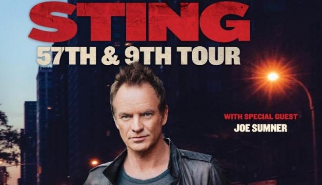 Foto: STING, din nou, în concert în România