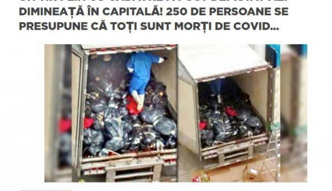 Avertizare: Știre falsă despre un TIR plin cu morți de COVID descoperit în București - stirefalsa-1592289098.jpg