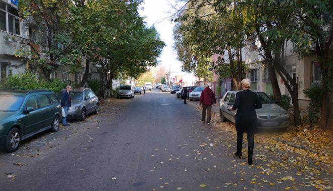 Foto: Strada Dumitru Marinescu revine la două sensuri de mers și dispar parcările de pe trotuar