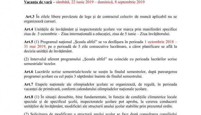 DECIZIE DE ULTIM MOMENT A MINISTERULUI EDUCAŢIEI, PRIVIND ÎNCEPEREA NOULUI AN ŞCOLAR - structuraanscolar1-1516350549.jpg