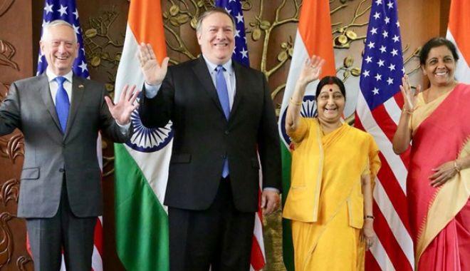 Foto: SUA şi India vor să-şi consolideze relaţiile bilaterale în domeniul apărării