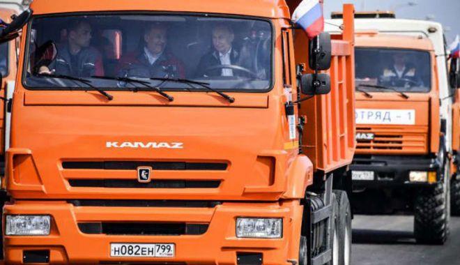 Foto: SUA condamnă inaugurarea podului care leagă Crimeea de Rusia