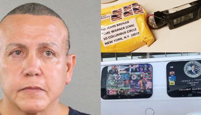 Foto: Suspectul în cazul bombelor artizanale trimise  adversarilor lui Trump, pus sub acuzare