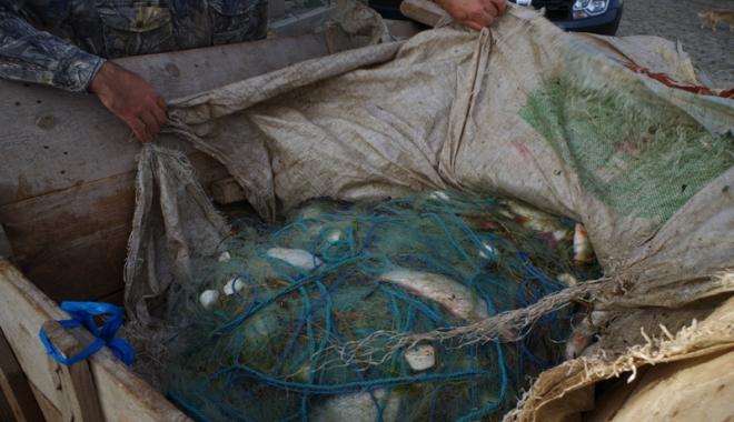 Foto: Au rămas fără peşte, dar şi fără plase