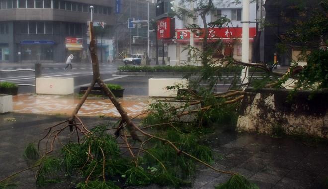 Foto: Japonia / O nou� alert� special� �n insula Okinawa din cauza taifunului Neoguri