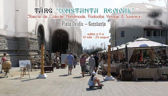 Foto: Târg de antichități în Piața Ovidiu, de mâine