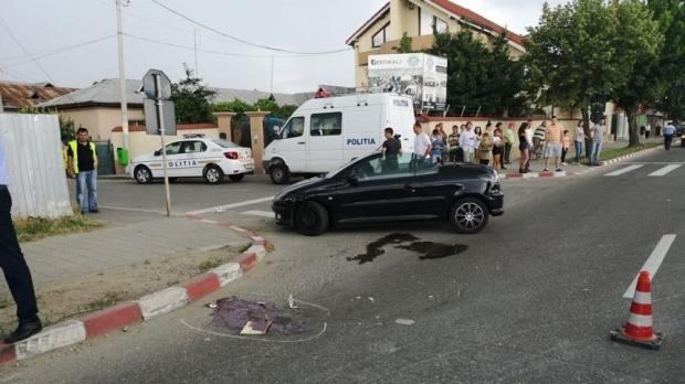Foto: ACCIDENT MORTAL! O tânără drogată, aflată la volan, a omorât un bărbat pe trecerea de pietoni