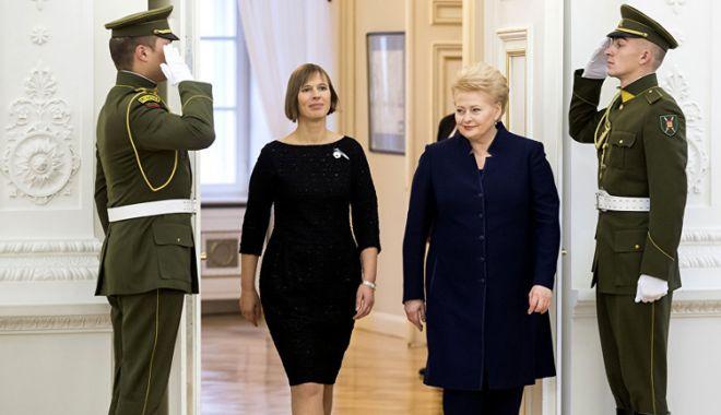 Foto: Ţările baltice îi cer preşedintelui american să le apere împotriva Rusiei