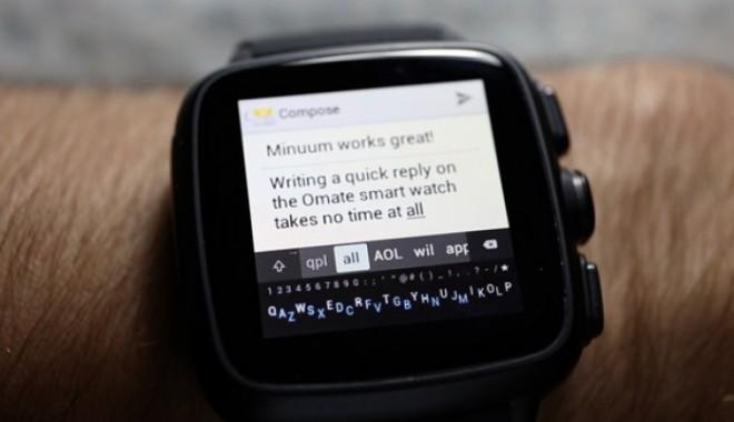 Foto: VIDEO. Tastatura virtuală pentru smartwatch