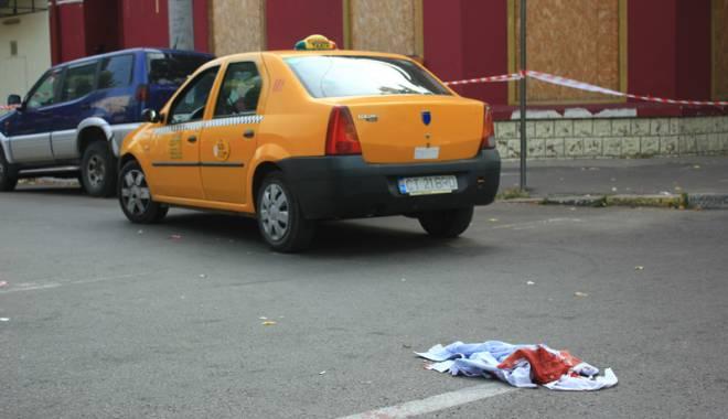 Foto: Scene de groaz� pentru un taximetrist, pe ruta Constan�a-Medgidia