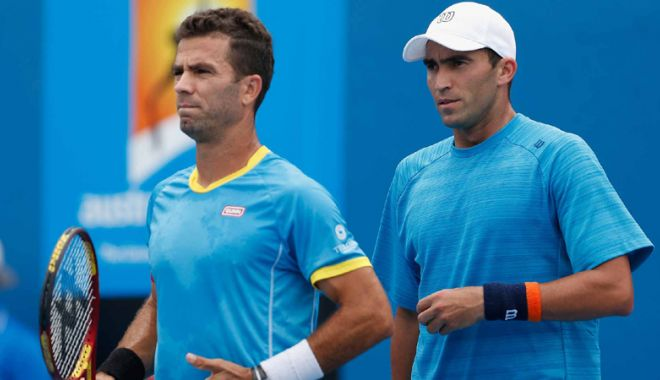 Foto: Horia Tecău şi Jean-Julien Rojer,  eliminare prematură de la Australian Open