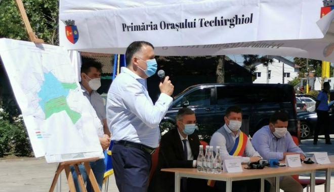 Foto: Orașul Techirghiol se racordează la rețeaua de gaze.