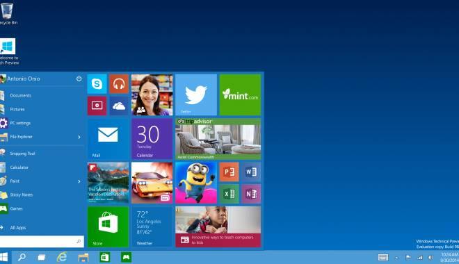 Foto: Windows 10 va apărea pe piață. Iată când