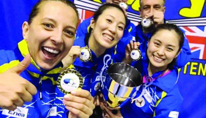Foto: Eliza Samara, câştigătoare a Ligii Campionilor la tenis de masă
