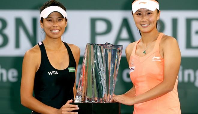 Foto: Tenis / Perechea Su-Wei Hsieh/Shuai Peng a câştigat proba de dublu la Roland Garros