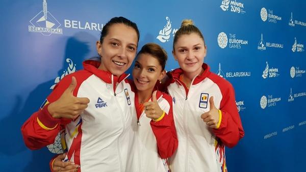 Foto: Jocurile Europene de la Minsk: Echipa feminină de tenis de masă a României, învinsă în finală de Germania