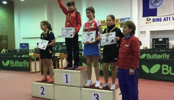 Foto: Sportiva Bianca Meiroşu, câştigătoarea a Cupei României la copii