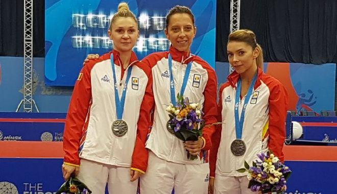 """Foto: Argint udat cu lacrimi, la Jocurile Europene. """"Ne-am dorit prea mult să câștigăm!"""""""
