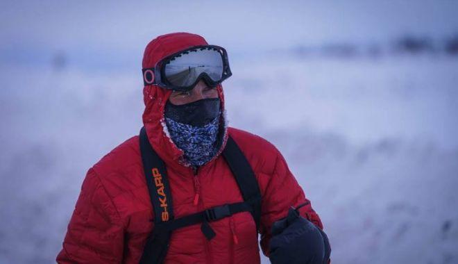 Foto: Tibi Ușeriu s-a întors fără piele pe tălpi și cu un deget degerat, după 600 de kilometri la -37 de grade