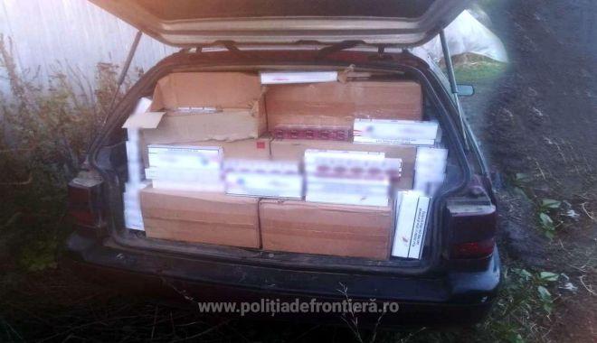 Foto: Aproximativ 13.400 pachete cu țigări, confiscate la frontieră