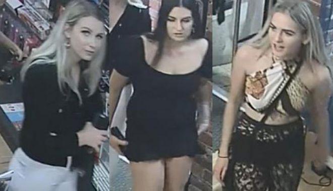 """Foto: Poliţia caută trei tinere """"fermecătoare"""" care au furat vibratoare în valoare de 400 de euro"""