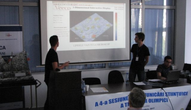 Foto: Olimpicii şi-au dat întâlnire la sesiunea de comunicări ştiinţifice