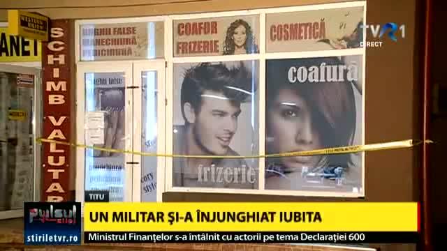 Foto: Militarul care şi-a înjunghiat mortal concubina într-un coafor, arestat preventiv