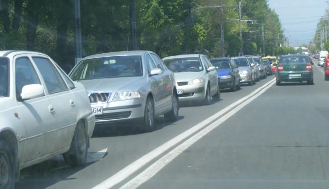 Foto: Trafic îngreunat pe DN 1, pe sensul de mers către Braşov