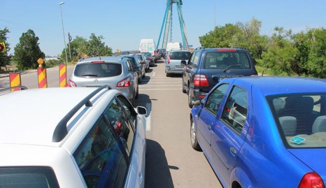 Foto: Trafic restricţionat pe Podul Agigea, până la sfârşitul lunii aprilie!